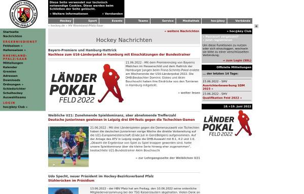 Vorschau von www.rps-hockey.de, Hockey-Verband Rheinland-Pfalz/Saar e.V.