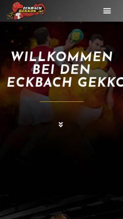 Vorschau der mobilen Webseite www.hsg-eckbachtal.de, HSG Eckbachtal