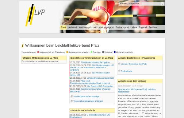 Vorschau von www.lv-pfalz.de, Leichtathletikverband Pfalz e.V.