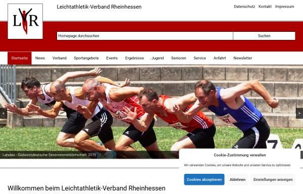 Vorschau von www.lvrheinhessen.de, Leichtathletikverband Rheinhessen e. V.