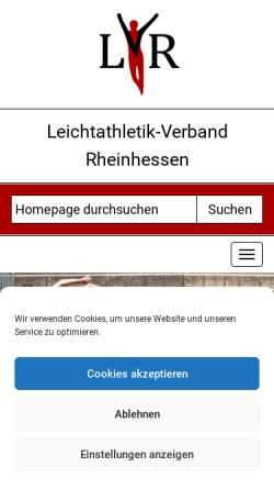 Vorschau der mobilen Webseite www.lvrheinhessen.de, Leichtathletikverband Rheinhessen e. V.