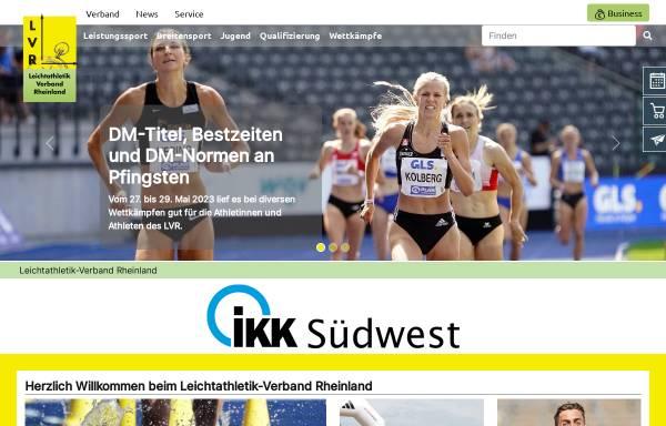 Vorschau von www.lvrheinland.de, Leichtathletik-Verband Rheinland e.V.