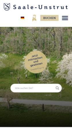 Vorschau der mobilen Webseite www.saale-unstrut-tourismus.de, Saale-Unstrut-Tourismus e.V.
