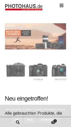 Vorschau der mobilen Webseite www.photohaus.de, Photohaus Colonnaden