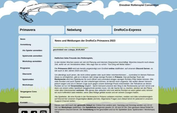 Vorschau von www.dreroco.de, Dresdner Rollenspiel Convention (DreRoCo)