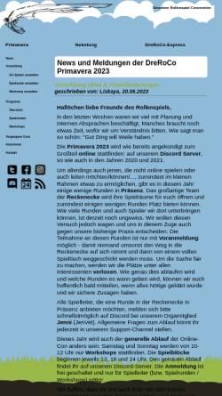 Vorschau der mobilen Webseite www.dreroco.de, Dresdner Rollenspiel Convention (DreRoCo)