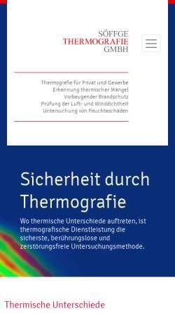 Vorschau der mobilen Webseite www.soeffge.com, Studio Söffge und Söffge Thermografie GmbH