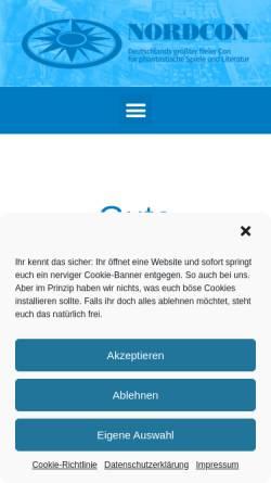 Vorschau der mobilen Webseite www.nordcon.de, Nordcon