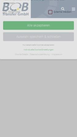 Vorschau der mobilen Webseite www.bob-transfer.de, BOB Transfer GmbH