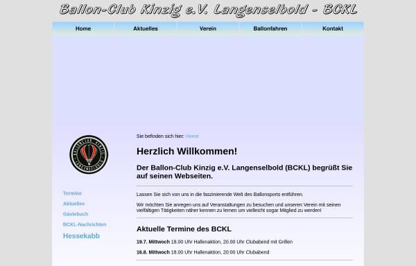 Vorschau von www.ballonclub-kinzig.de, Ballon-Club Kinzig e.V. Langenselbold (BCKL)