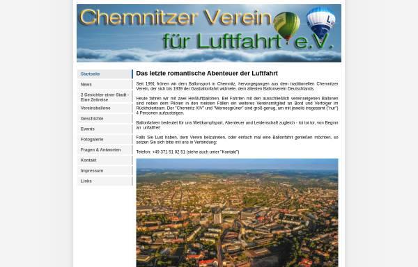 Vorschau von www.chemnitzballon.de, Chemnitzer Verein für Luftfahrt e.V.