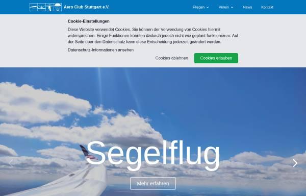 Vorschau von aeroclub-stuttgart.de, Aeroclub Stuttgart