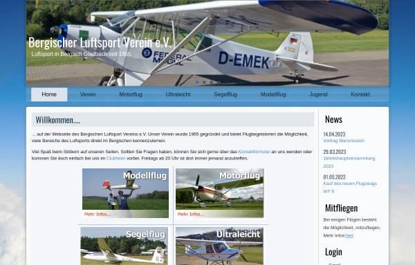 Vorschau von www.blvev.de, Bergischer Luftsportverein