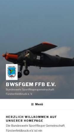 Vorschau der mobilen Webseite fursty.de, BW-Sportflieger Gemeinschaft FFB