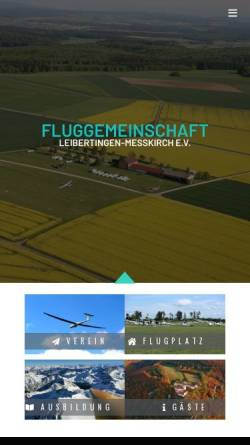 Vorschau der mobilen Webseite www.flugplatz-leibertingen.de, Fluggemeinschaft Leibertingen e.V.