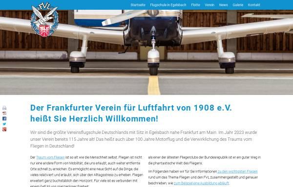 Vorschau von www.fvl-online.de, Frankfurter Verein für Luftfahrt