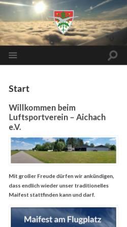 Vorschau der mobilen Webseite lsvaichach.de, Luftsportverein Aichach