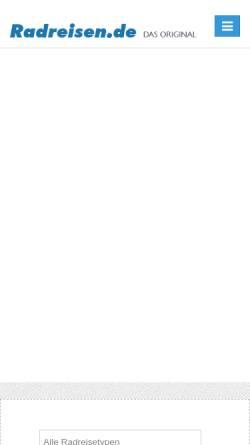 Vorschau der mobilen Webseite www.radreisen.de, Radreisen