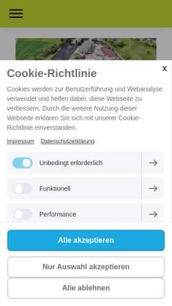 Vorschau der mobilen Webseite www.reiten-delitzsch.de, Reit- und Voltigierverein Schenkenberg e.V.