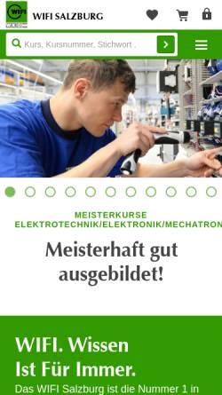 Vorschau der mobilen Webseite www.wifisalzburg.at, Wirtschaftsförderungsinstitut Salzburg (WIFI)
