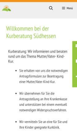 Vorschau der mobilen Webseite kurberatung-suedhessen.de, Kurberatung Südhessen