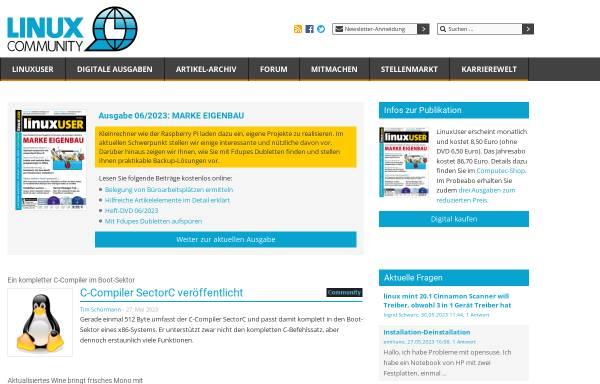 Vorschau von www.linux-community.de, Linux Community