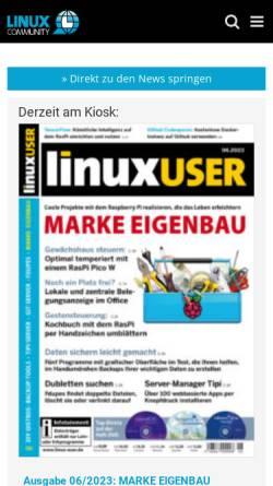 Vorschau der mobilen Webseite www.linux-community.de, Linux Community
