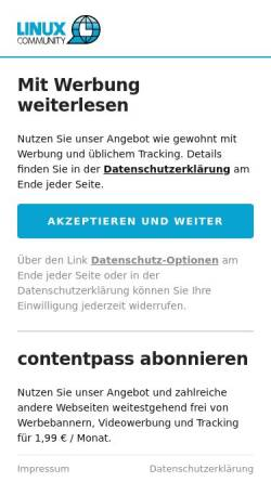 Vorschau der mobilen Webseite www.linux-user.de, Linux User