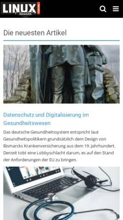 Vorschau der mobilen Webseite www.linux-magazin.de, Linux-Magazin