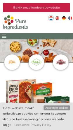 Vorschau der mobilen Webseite www.pureingredients.eu, Mekkafood GmbH & Co. KG