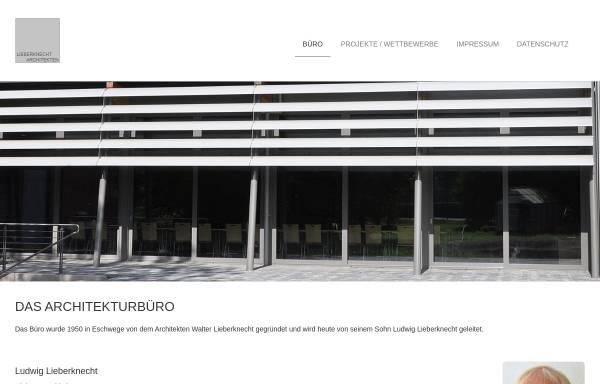 Vorschau von www.lieberknecht-architekten.de, Lieberknecht Architekten