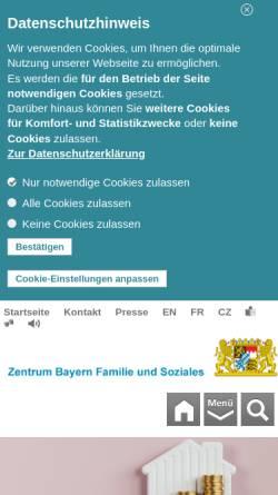 Vorschau der mobilen Webseite www.zbfs.bayern.de, Amt für Versorgung und Familienförderung