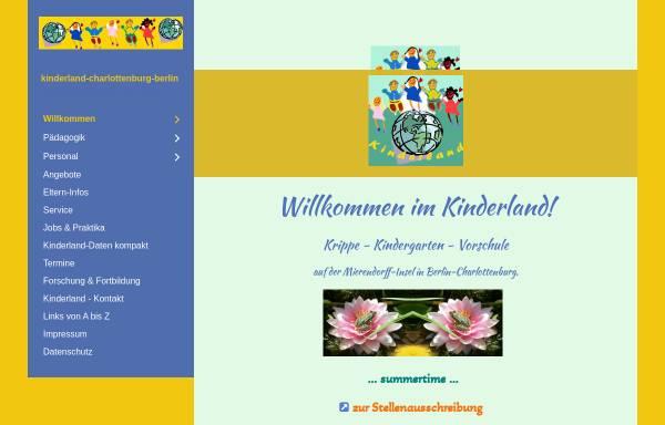 Vorschau von www.kinderland-charlottenburg.de, Kinderland