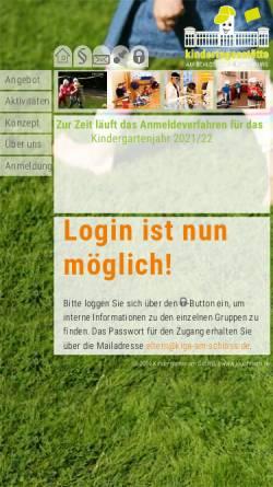 Vorschau der mobilen Webseite www.kiga-am-schloss.de, Kita am Schloss