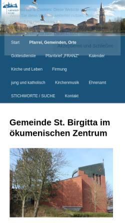 Vorschau der mobilen Webseite st-birgitta.beepworld.de, Birgitta-Thomas-Haus Kiel-Mettendorf