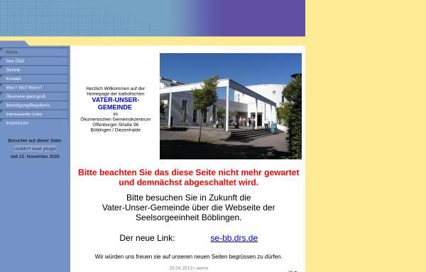Vorschau von www.vater-unser-bb.de, Böblingen-Diezenhalde - Vater unser Gemeinde