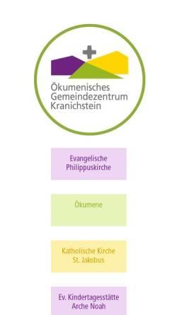 Vorschau der mobilen Webseite www.oegz-kranichstein.de, Darmstadt-Kranichstein - Philippus & St. Jakobus Kirchengemeinde