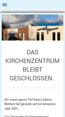 Vorschau der mobilen Webseite www.kirchenzentrum.de, Oberhausen - Kirchenzentrum