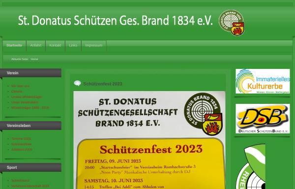 Vorschau von www.donatus-schuetzen-brand.de, St. Donatus Schützen-Gesellschaft 1834 Brand e. V.