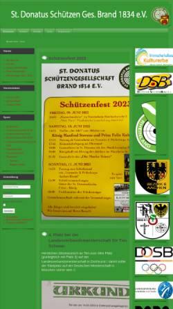 Vorschau der mobilen Webseite www.donatus-schuetzen-brand.de, St. Donatus Schützen-Gesellschaft 1834 Brand e. V.