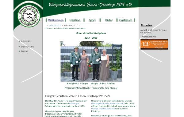 Vorschau von www.bsvfrintrop1919.de, Bürger-Schützen-Verein Essen-Frintrop 1919 e.V.
