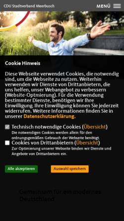 Vorschau der mobilen Webseite www.cdu-meerbusch.de, CDU Meerbusch