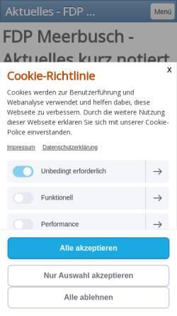Vorschau der mobilen Webseite www.fdp-meerbusch.de, FDP Meerbusch