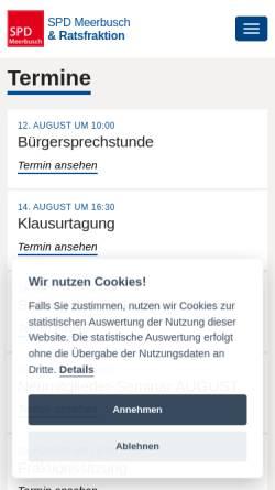 Vorschau der mobilen Webseite www.spd-meerbusch.de, SPD Meerbusch