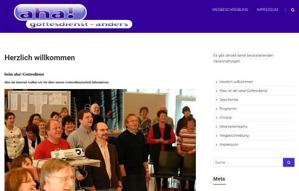 Vorschau von www.aha-gottesdienst.de, aha! Gottesdienst
