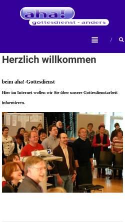 Vorschau der mobilen Webseite www.aha-gottesdienst.de, aha! Gottesdienst