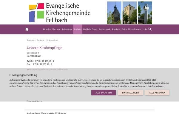 Vorschau von www.fellbach-evangelisch.de, Evang. Gesamtkirchengemeinde