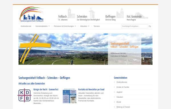 Vorschau von www.katholiken-fellbach.de, Katholische Seelsorgeeinheit