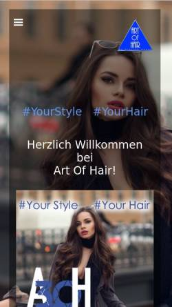 Vorschau der mobilen Webseite www.art-of-hair.de, Art of Hair