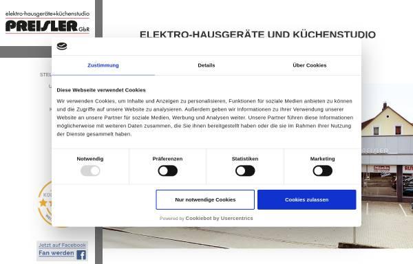 Vorschau von www.kuechen-preisler.de, Preisler GbR Elektro-Hausgeräte + Küchenstudio